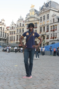 Standing in the middle of Grand Place, Brussels, Belgium