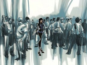 alone_in_a_crowd_by_H2O77