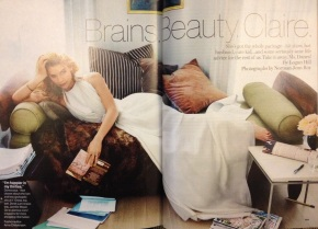 Picture taken of Claire Danes as featured in January 2014 issue of GLAMOUR